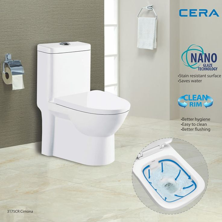 Give your personal space the much needed #style and #hygiene with #CERA 3175 CR Cimona with Nano Glaze and Rimless Technology. #ReflectsMyStyle