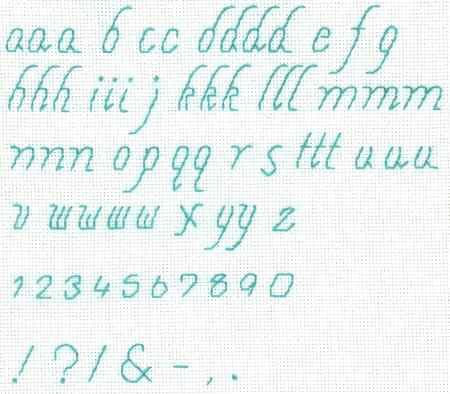 Great website with free cross stitch alphabets (from Better Cross Stitch Patterns)