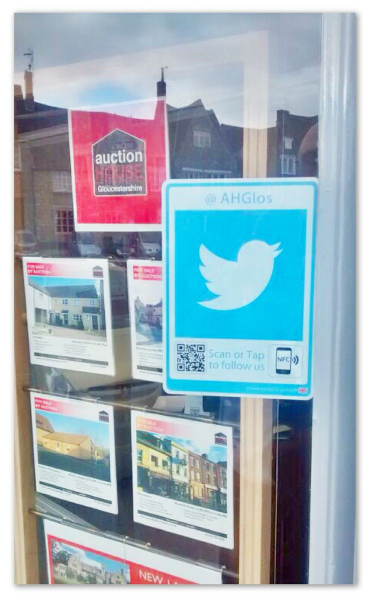 Thanks to the team at Property Auctions Gloucestershire for posting this great shot of their tag in action #estateagents #logotag #socialmediamarketing