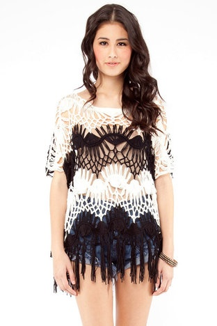 casualThings Fashion, Style, Knits Tops, White Knits, Crochet Tops, Crochet Fringes Tops, Fringe Tops, Imaginary Closets, Crochet Knits