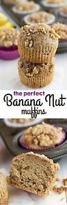Mom's Banana Muffin Recipe This is my absolute favorite banana bread recipe, turned into banana muffins! Banana bread is a staple in our house and it always has been. I remember waking up to the smell...