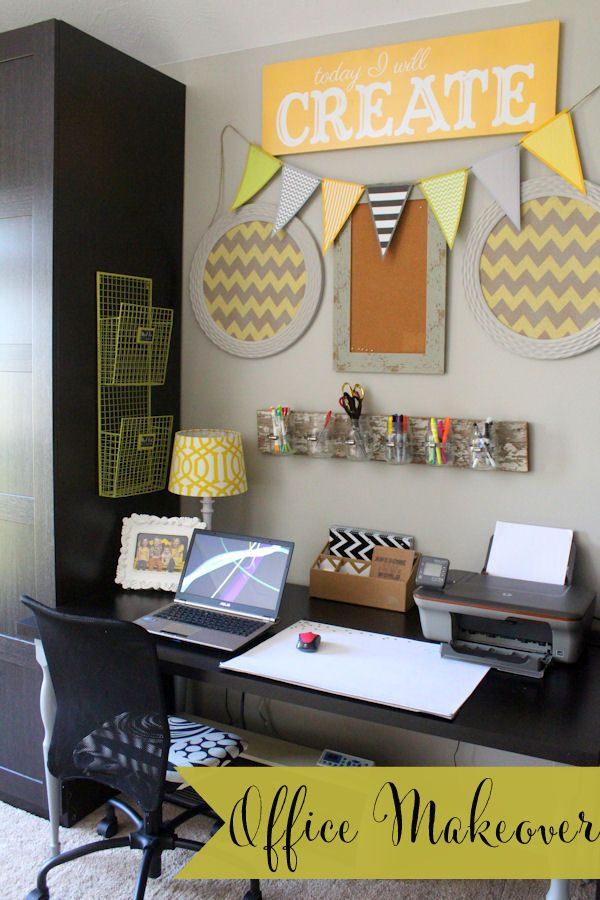 127 best images about dream office spaces on pinterest for Cute home office ideas