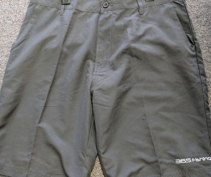 365 Fishing-Men's Fishing Boat Shorts (Black or Gray)