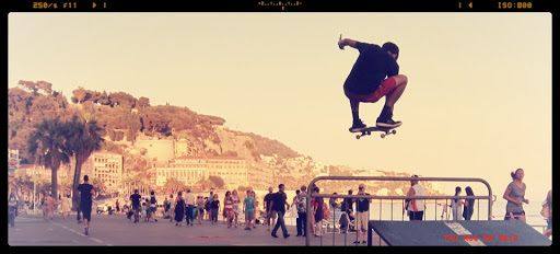 A fellow tourist took this photo of me in Nice, France.  I found it in my facebook messages months later!
