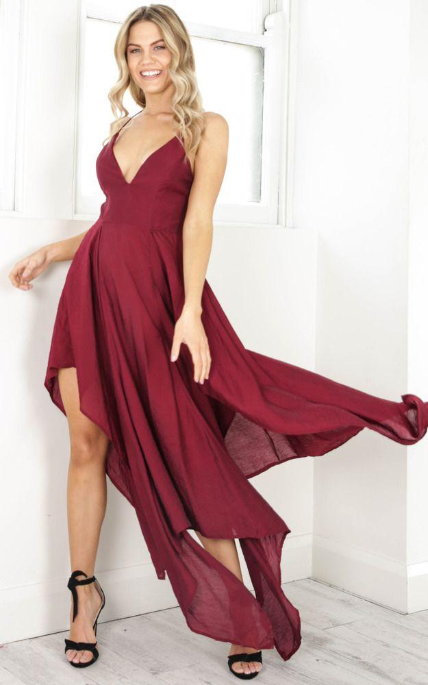 showpo, showpo dress, wine, wine dress, dress