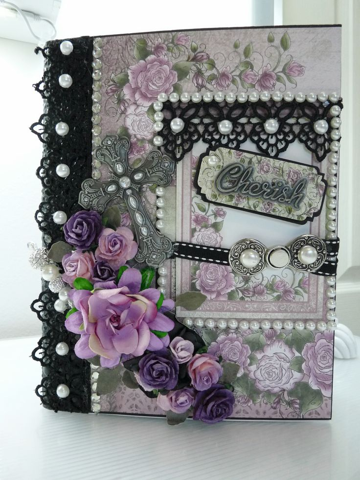 Heartfelt Creations Raindrops on Roses Mini Album - Scrapbook.com