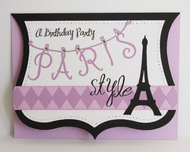 Snippets By Mendi: A Paris Inspired Teen Girls Birthday Party Invitations.