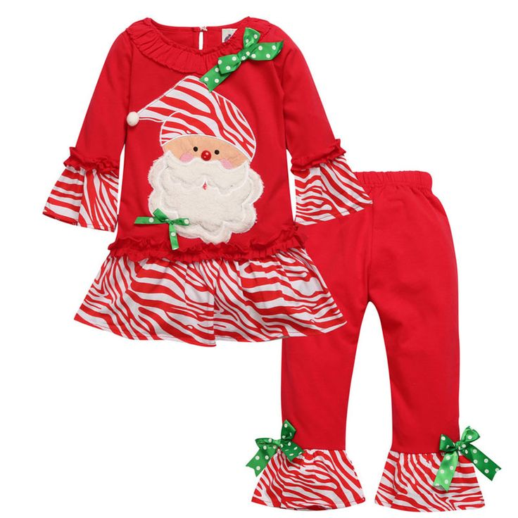 >> Click to Buy << Fashion Child Garment Girls Boutique Outfits Ruffle Pants Toddler Girl Christmas Outfit Kid Birthday Baby Girls Fall Clothing  #Affiliate