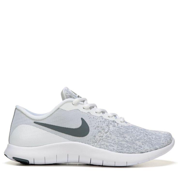 Nike Women's Nike Flex Contact Running Shoes (White / Grey) - 9.0 M