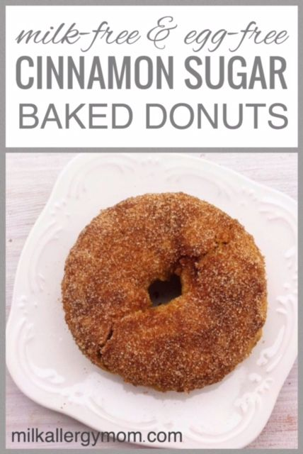 Delicious, warm cinnamon sugar donuts baked in the oven. Dairy-free and egg-free. A perfect treat for food allergy kids. And mine likes this recipe better than any other donut he's had. We have several flavors to share. Hope you like my son's birthday breakfast of choice.