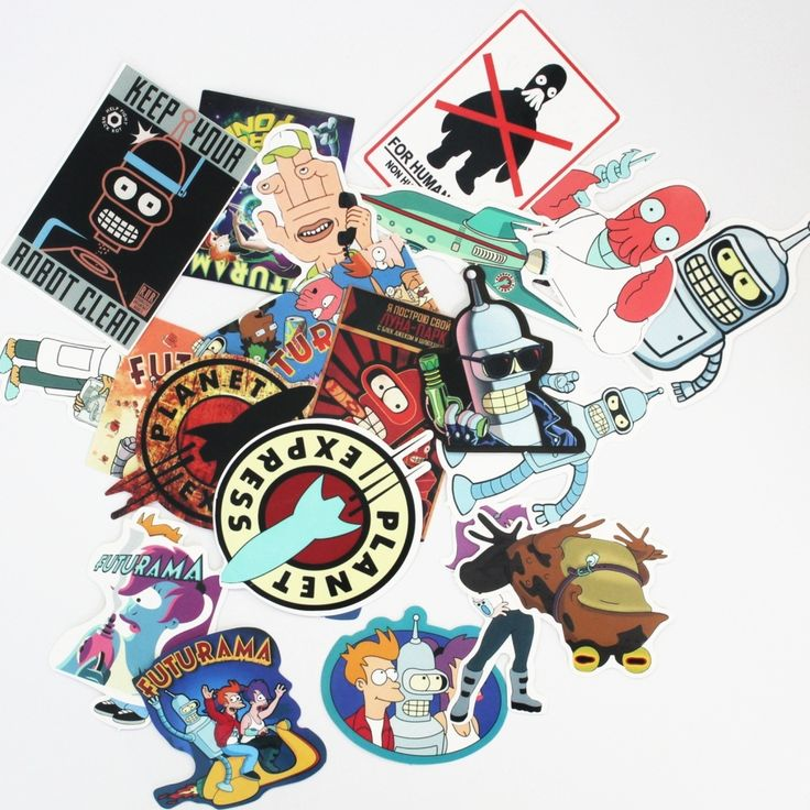23Pcs/lot Western Funny Anime Futurama Stickers For Snowboard Car Laptop Luggage Skateboard Motorcycle Decal Kids Toy Sticker //Price: $5.99 & FREE Shipping //     #hashtag2