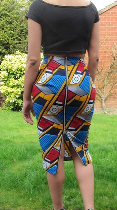 African print high waisted long skirt with metal by MakaymaChic ~African fashion, Ankara, kitenge, African women dresses, African prints, Braids, Nigerian wedding, Ghanaian fashion, African wedding ~DKK