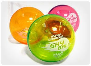 skyball...brightly colored, helium filled bounces up to 75 ft. $19