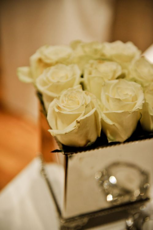 Silver brings elegance to a wedding-this picture is the perfect example #vintage #roses #silver #antique