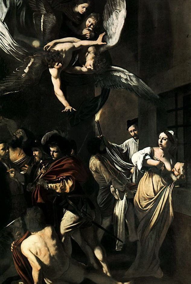 Seven acts of mercy - Caravaggio.  AND there was no photoshop back then. Props to the Vaggio!