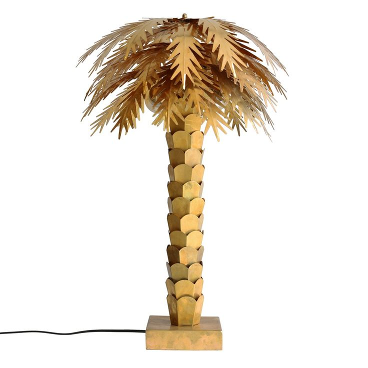 """Add a touch of tropical maximalism to your home with this fabulous Brass Palm Tree Lamp from HKliving - a real statement piece of lighting that will certainly get some attention from envious visitors! It will look lustrous sat in the corner on a high side table, radiating a warm glow; getting you in the mood to dig out your copy of """"Club Tropicana"""" and get the cocktails shaking! Made from Brass, it comes complete with 2 bulb fittings (E27 maximum 60W), 1.5 metre wire, switch and plug…"""