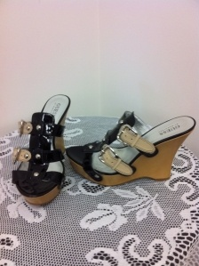 wedge sandals by Guess
