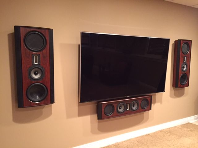 Legacy S Silhouette On Wall Speaker System In Rosewood Finish
