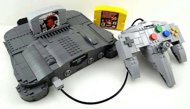 Lego n64 nintendo 64 video game console pinterest lego for Consolle lago