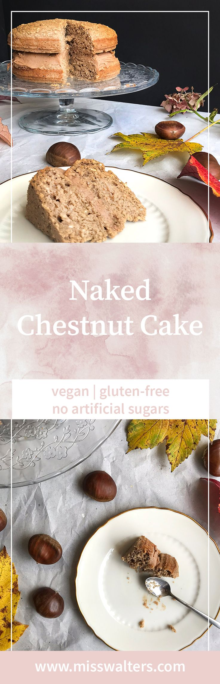 Ring in the golden days of autumn with this delicious naked chestnut cake.