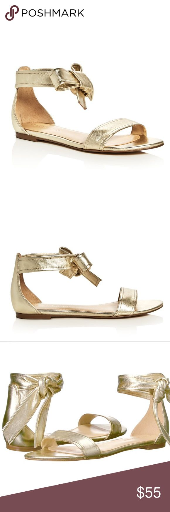 Ivanka Trump Leather Gold Ankle Tie Sandals Brand New without tags or box. Elegant and comfortable, these classy flats by Ivanka Trump are a closet staple. These ladylike sandals feature a leather upper; man made sole; ankle tie wrap closure; round toe silhouette with single toe strap; soft lining and cushioned footbed; Size: 6.5M. Color: Gold. First 3 pictures are stock for styling reference. The rest are of the actual Sandals on sale. Reasonable offers welcome 😊 Ivanka Trump Shoes Sandals