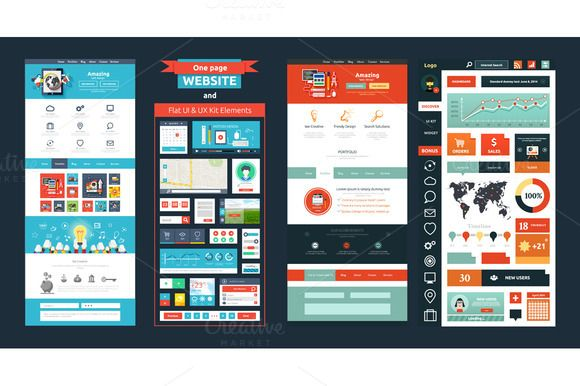 Check out Website page template. Web design by robuart on Creative Market