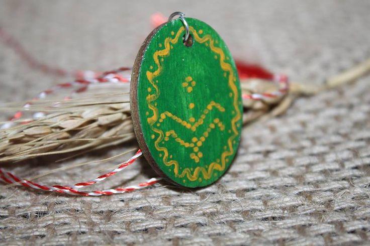 Broșă cu motive tradiționale inspirate de pe țesături și ceramică.Cod produs: B2.1Produsul se execută manual.Preț: 10 lei