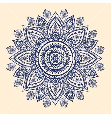 Beautiful indian paisley ornament vector by transia on VectorStock®