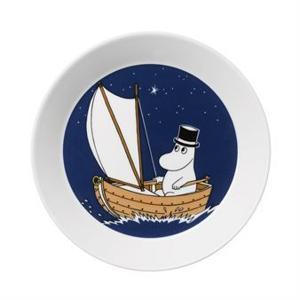 Moominpappa plate - dark blue - Arabia