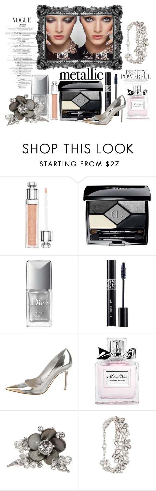 """Mystic Metallic Dior"" by iris234 on Polyvore featuring beauty, Christian Dior and Saqqara"
