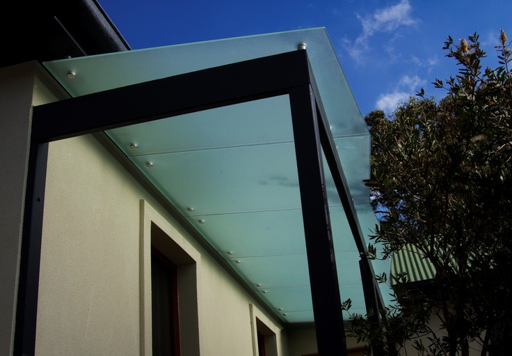 Frameless Tinted Glass Canopy 111 Ea Glass Canopy