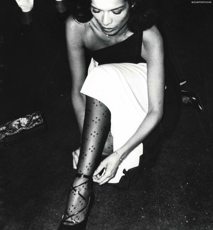 Bianca Jagger arriving at Studio 54 in the late 1970s, photographed by Andy Warhol