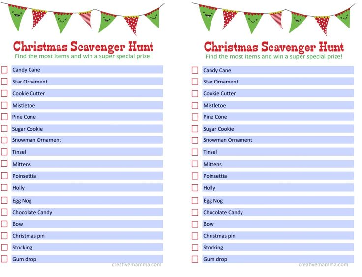 25+ Best Ideas About Christmas Scavenger Hunt On Pinterest