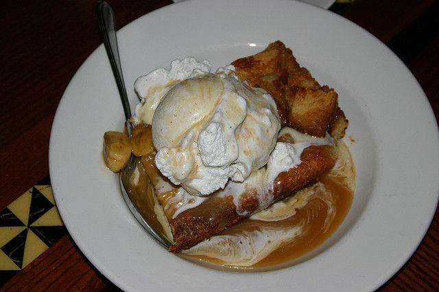 Ohana bread pudding with bananas foster sauce & ice cream. THE best dessert in Disney World!