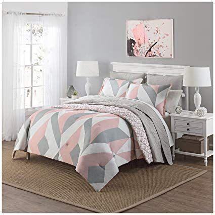 Best 3 Piece Girls Light Pink Grey White Geometric Polkadot 400 x 300