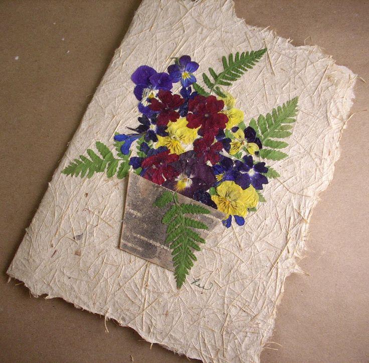 flores secas para targetas - Buscar con Google