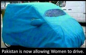 Pakistan is now allowing women to drive!