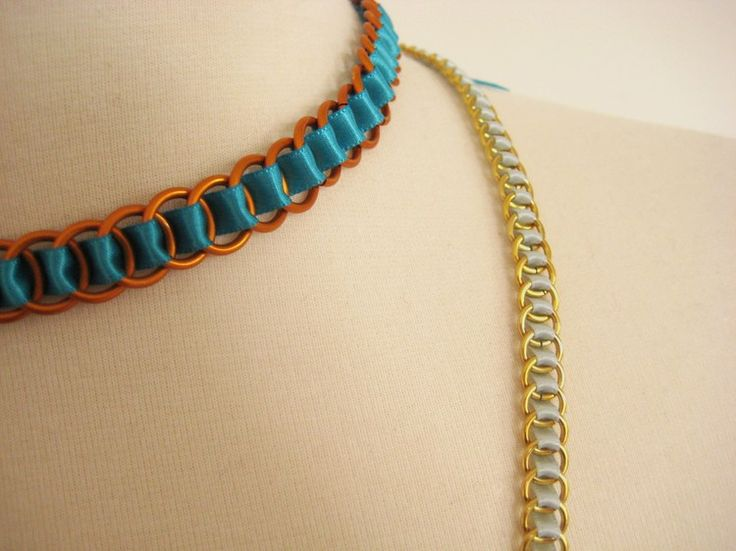 Ribbon Woven Chain Necklace    Luxe DIY