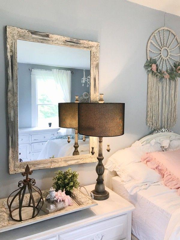 Lampen Shabby Chic style Spiegel #Design #dekor #dekoration #design - Deko Für Schlafzimmer