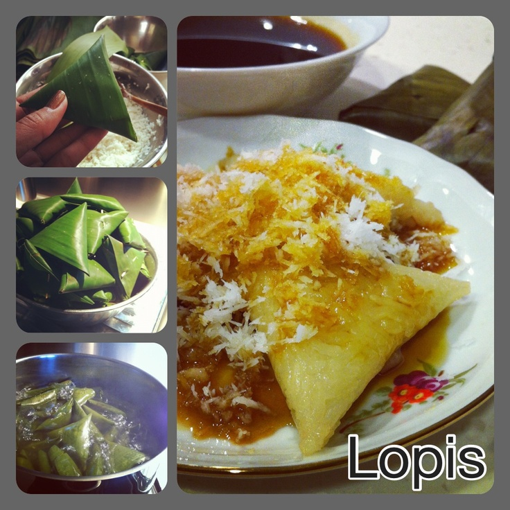 """Lopis"" indonesian sweets"
