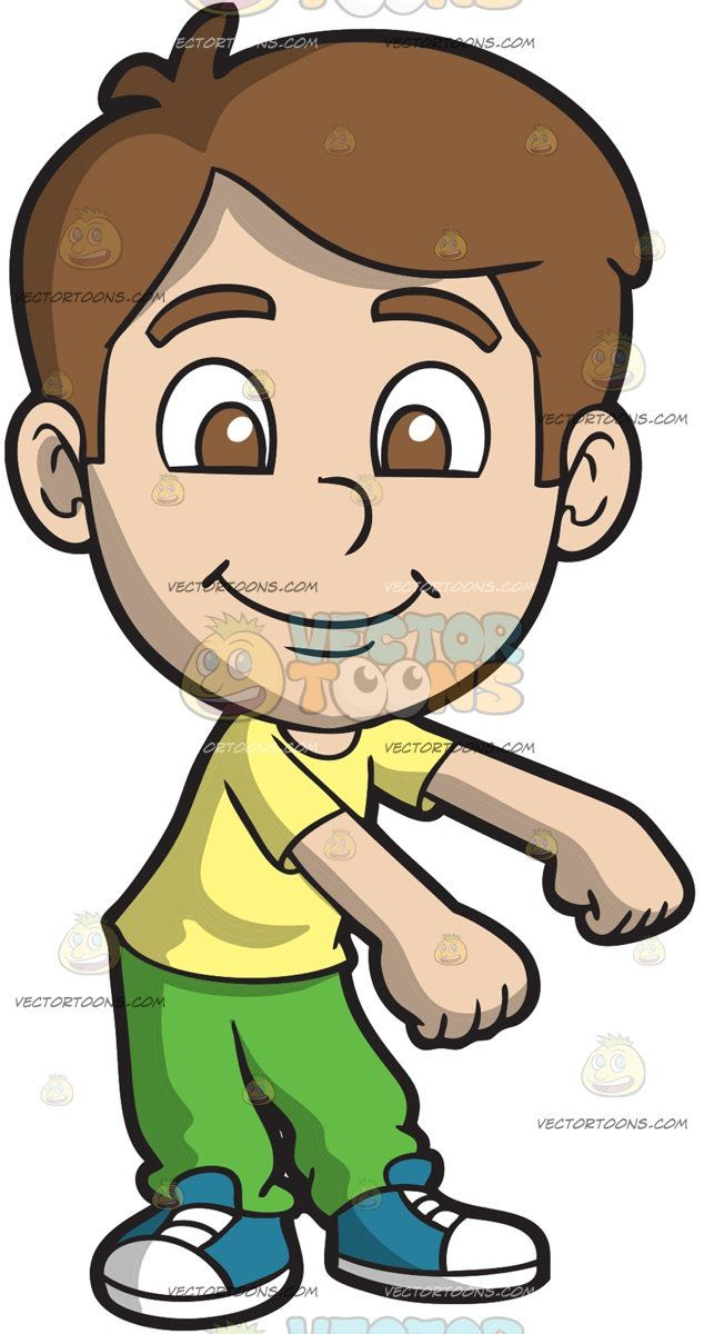 A Happy Boy Doing The Floss Dance A Boy With Brown Hair Wearing A Yellow Shirt Green Pants Blue With White Sneakers Smiles While Doing Educacao Fisica Jovens
