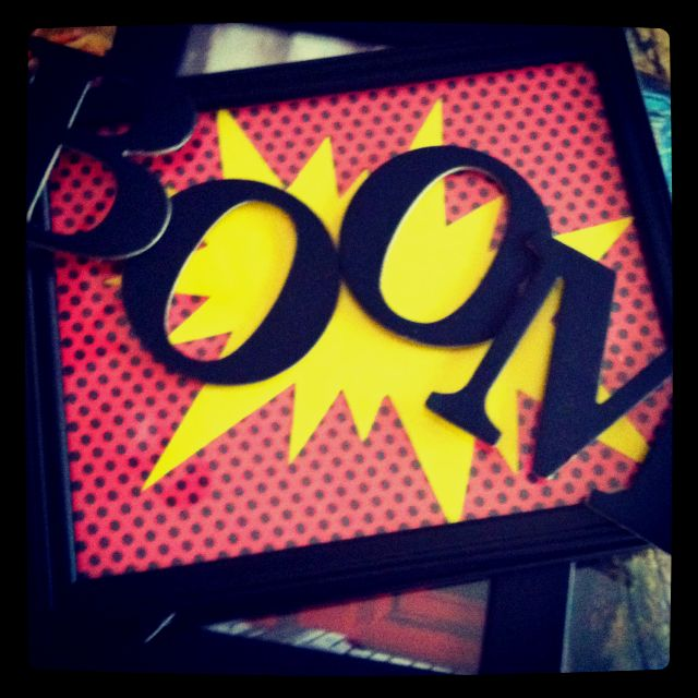The picture I made for my sons superhero room! :)