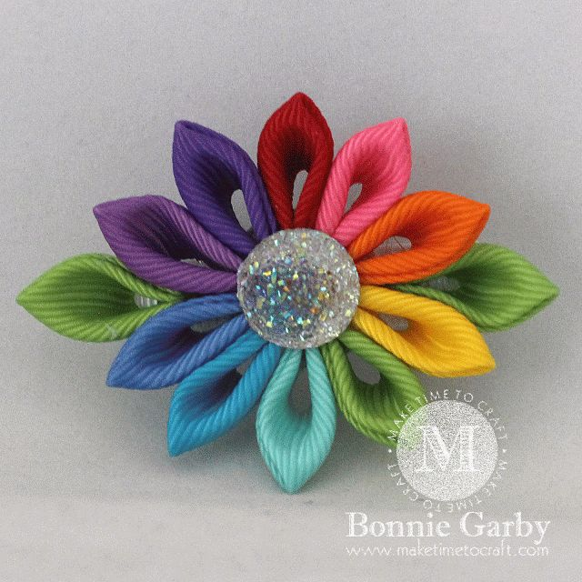 Make Time To Craft: New Summer Flowers Themed Challenge at Really Reasonable Ribbon & Kanzashi Flower Video Tutorial