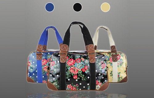 Miss Lulu Female Business Handbag - Floral style
