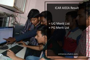 Indian Council of Agricultural Research AIEEA Result 2017 UG PG Entrance Exam Merit List