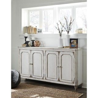 Shop for Signature Design by Ashley Mirimyn Antique White Accent Cabinet Credenza. Get free shipping at Overstock.com - Your Online Furniture Outlet Store! Get 5% in rewards with Club O!
