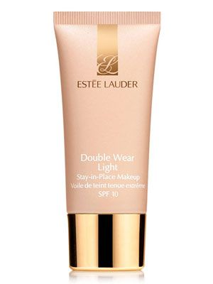 Este Lauder Double Wear Light Stay-in-Place Makeup SPF 10 Foundation. I used this for a while. It does not budge! but too heavy for around my eyes. Definitely need a good concealer for this.