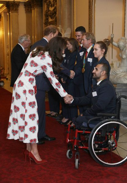 Prince Harry Photos Photos - Catherine, Duchess of Cambridge and Prince Harry meet athletes at a reception for Team GB's 2016 Olympic and Paralympic teams hosted by Queen Elizabeth II at Buckingham Palace October 18, 2016 in London, England. - Olympics