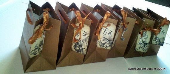 Six Alice in wonderland take me gift bags by Birdyheartsbuttons, £5.00