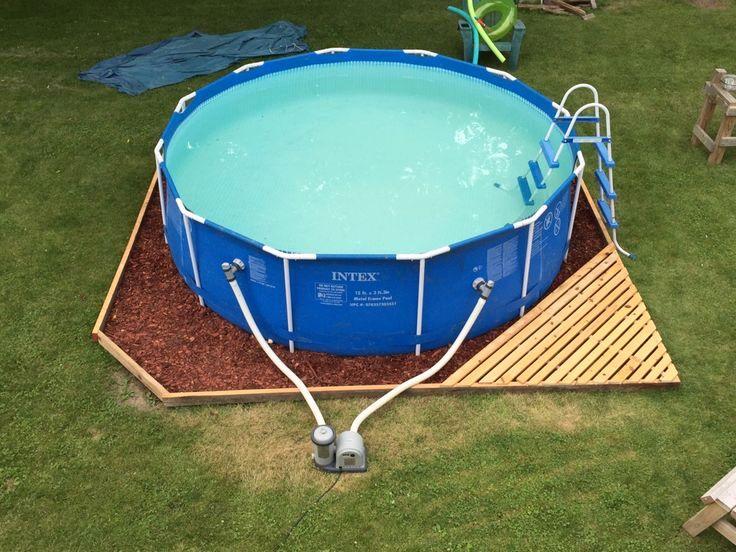 unterlage pool rund